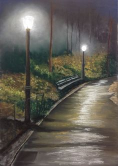 Excellent pastel artwork in the gallery today by member dmoran