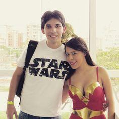 Con la mujer maravilla!!....wauu