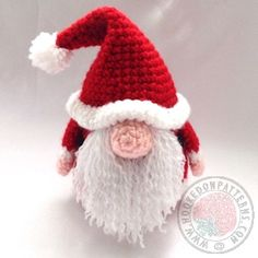 The original Santa Gonk Crochet Pattern from Hooked On Patterns. A fun crocheted Santa which is also the base for A Gonks Journey. The Journey Starts here! www.hookedonpatterns.com