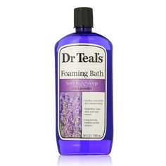 Want to Soothe Skin & Relax After a Long Day? Try an Epsom Salt Bath! The Beauty Closet Recommends: Dr Teal's Pure Epsom Salt Foaming Bath with Lavender — THE BEAUTY CLOSET