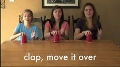 How to play the cup game by The Game Gal. Learn a hand-clapping routine to do with a big group of people, then do it over and over, faster and faster, until someone messes up. Music Lessons For Kids, Music For Kids, Kids Songs, Games For Kids, Hand Clapping Games, Hand Games, Kids Talent, Kids Sleepover, Cup Song