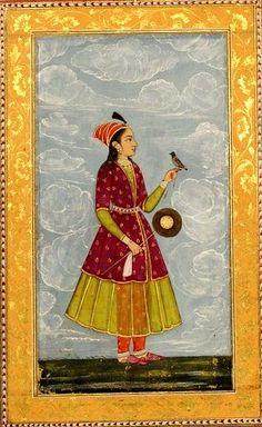 Album de miniatures indiennes : scènes de genre, illustrations botaniques, scènes de la vie quotidienne, calligraphies] : [peinture]. Date d'édition : 1620-1750