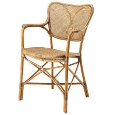 Eichholtz Rotan Eetkamerstoel Colony met armleuning Tropical Dining Chairs, Solid Wood Dining Chairs, Dining Arm Chair, Upholstered Dining Chairs, Dining Room Chairs, Side Chairs, Bauhaus, Modern Rustic Interiors, Fine Furniture