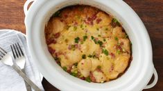 Slow-Cooker Ham and Cheese Breakfast Casserole