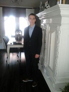 Gavin klaar voor het schoolgala
