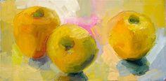 """Golden apples"" - Original Fine Art for Sale - © by Lena Levin"