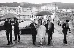 Nerea con su vestido de novia de alta costura, de Carmen Soto, de The Bride, el atelier de Bilbao