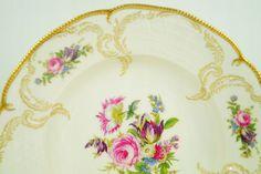 Rosenthal Hoeroldt Arkadien Kaffeetasse Classic Rose Sanssouci elfenbeinfarben