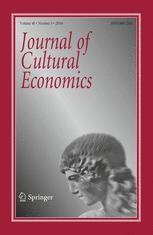 Journal of Cultural Economics. Vol. 40, no. 3 (2016)