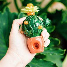 Succulent Cactus Spoon Pipe