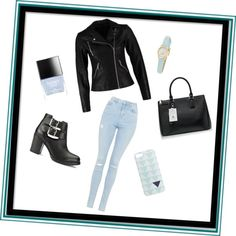 A fashion look from June 2015 featuring zipper jacket, high waisted skinny jeans and black leather booties. Browse and shop related looks. Butter London, Rainy Days, J Crew, Kate Spade, Topshop, Shoe Bag, Casual, Polyvore, Stuff To Buy