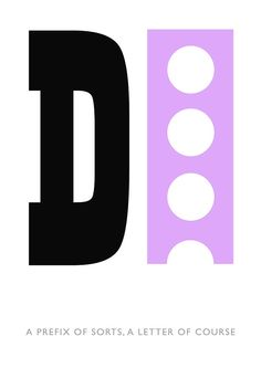D - from the Typographical Alphabet by Tony Baker