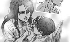 Levi (Rivaille) and his mother Kushel Ackerman - Attack on Titan - Shingeki no Kyojin
