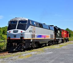 NJ Transit Railroad, GE P40DC diesel-electric locomotive in Bethlehem, Pennsylvania, USA