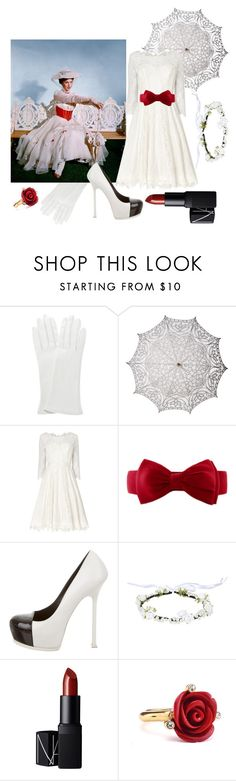 """""""Mary"""" by madalynkw ❤ liked on Polyvore featuring Cultural Intrigue, Phase Eight, Yves Saint Laurent, NARS Cosmetics and Oscar de la Renta"""