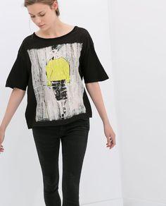BLUSA C/DESENHO DE BONECAS - Estampadas - T - shirts - MULHER | ZARA Portugal