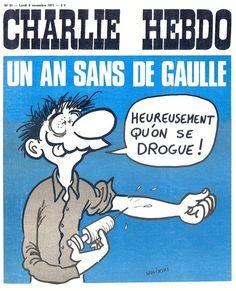 Charlie Hebdo - N° 51 - Lundi 8 Novembre 1971 - Couverture de Wolinski