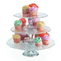 "Palais Glassware Elegent 3 in 1 Cupcake or Cake Stand - Mix and Match Use As a One Tier, Two Tier or Three Tier or As 3 Separate Cake Stands - 10"" High X 12"" Diameter (Hammered Design) Palais http://www.amazon.com/dp/B00NMVIIBM/ref=cm_sw_r_pi_dp_.trexb0VCMZ1X"