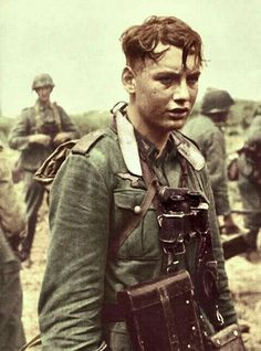 Young german soldier, WWII, pin by Paolo Marzioli