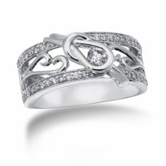 Love Knot, 14K White Gold Exclusive Design Diamond Band, 3/8 ctw.