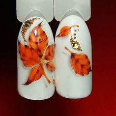 Best Matte Nails Part 10 Fall Nail Art, Autumn Nails, Winter Nails, Orange Nail Art, Orange Nails, Seasonal Nails, Holiday Nails, Winter Nail Designs, Nail Art Designs