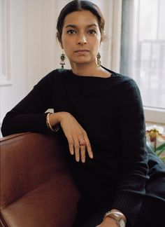 TONGUE-TIED   'English is loaded,' says Lahiri, 48, photographed at home in Brooklyn. 'In my...