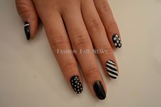Black and white nail art. Walgreens.com has everything you need to create awesome nail art.