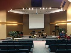 Small Church Sanctuary Design Ideas designchurch ideascolor palettes sanctuary contemporary worship greenwood in sanctuary curtain backdrop center screens on sides Church Sanctuary