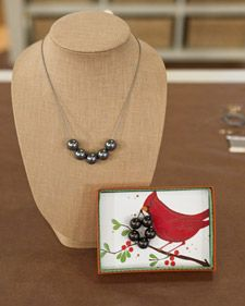 This easy-to-make and affordable faux pearl necklace is a wonderful gift, especially with your own handmade gift packaging. http://www.marthastewart.com/267011/faux-pearl-necklace?czone=crafts/handmade-jewelry-cnt/jewelry-by-material=381713=351383=267011