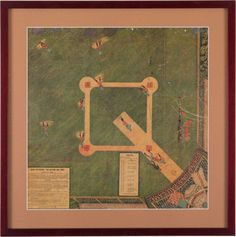Antique-Baseball-Game-Our-National-Ball-Game-1887-Game-Board-McGill-Delany