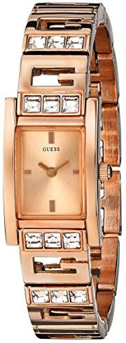 GUESS Women's U0200L1 G-Iconic Sophistication Crystal Rose Gold-Tone Watch - Jewelry For Her