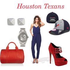 """""""NFL Draft Day-Houston Texans"""" by sportsapparelforher on Polyvore"""