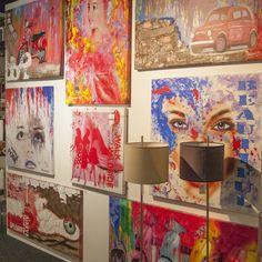 Heel veel kleur voor op de wand, schilderijen bij Art Home Center