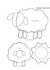 RETIRADO DA NET...this is great!...the same sheep from two angles..nice appliqué !