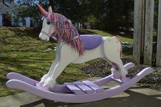 Handmade Rocking Unicorn Unicorn rocking horse nursery | Etsy
