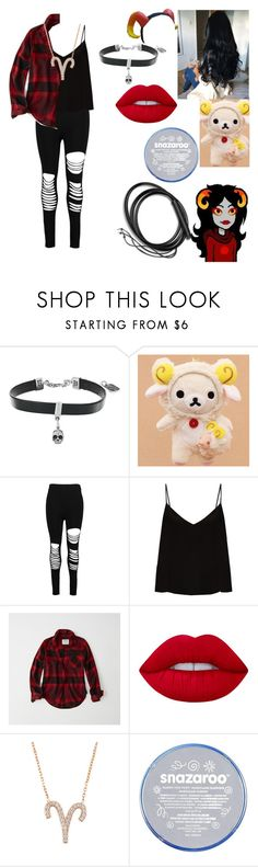 """""""Aradia Megido (Homestuck)"""" by jefferson-madhatter ❤ liked on Polyvore featuring King Baby Studio, Boohoo, Raey, Abercrombie & Fitch, Lime Crime and Rogues Gallery"""