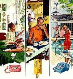 Bell Telephone system illustration.