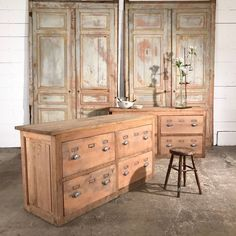 pair of shop chest of drawers