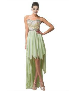 431313d49985 BessWedding Beaded Sweetheart High-Low Prom Dress 2016 Cocktail Dresses for  Girl Aqua Size 6
