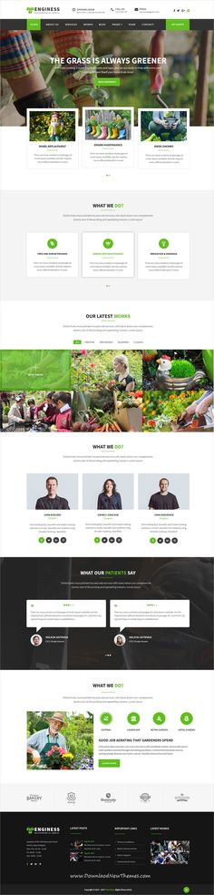 Enginess is clean and modern design multipurpose PSD #template for #gardening and #lawn services #website with 4 homepage layouts and 10 layered PSD files to live preview & download click on image or Visit