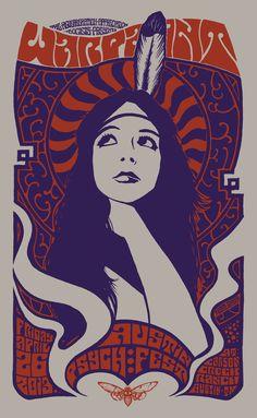 Warpaint - Austin Psych Fest 2013 via ROBIN GNISTA ART