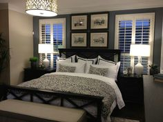 small master bedroom ideas with king size bed - Black Master Bedroom Furniture Decor -Harptimes. Home Decor Bedroom, Guest Bedroom Decor, Bedroom Makeover, Master Bedroom Furniture, Home, Cheap Home Decor, Guest Bedrooms, Remodel Bedroom, Home Decor
