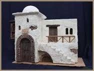 Mini Bible world Nativity House, Christmas Nativity Scene, A Christmas Story, Pottery Houses, Ceramic Houses, African House, Diy Crib, Modelos 3d, Fairy Garden Houses