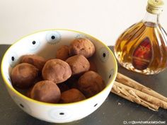 Low Calorie Chocolate Truffles with Quark and Rum