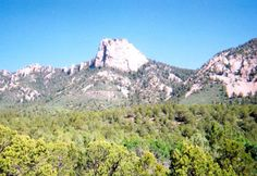 Tooth of Time at Philmont Scout Ranch, Cimarron, NM.....Jared and Amy went on backpacking trips here while the rest of us stayed at the ranch.....Pat