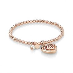 Bracelet in rose gold plating and pearl I Love You Mum, Blush Roses, Gold Plating, Rose Gold Plates, Italy, Pearls, Pendant, Bracelets, Gifts