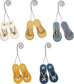 """Set of 10 Ornaments - """"Flip Flops"""""""