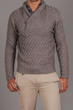 Antony Morato Shawl Neck Sweater with Contrast Tipping