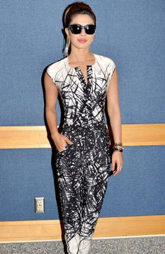 Priyanka Chopra is now an expert at that rock-star look. #Style #Bollywood #Fashion #Beauty