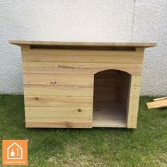 Niches, cages, chenils et parcs chien Niche En Palette, Pallet Dog House, Modern Bedroom Decor, Dog Houses, Diy Stuffed Animals, Animals And Pets, Construction, Woodworking, How To Plan